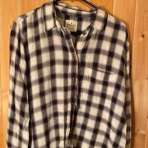 AMERICAN EAGLE   Women's Plaid Shirt - XL
